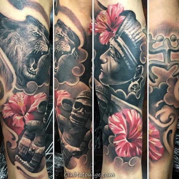 Skin Torn Taino Hommes Upper Arm Tattoos
