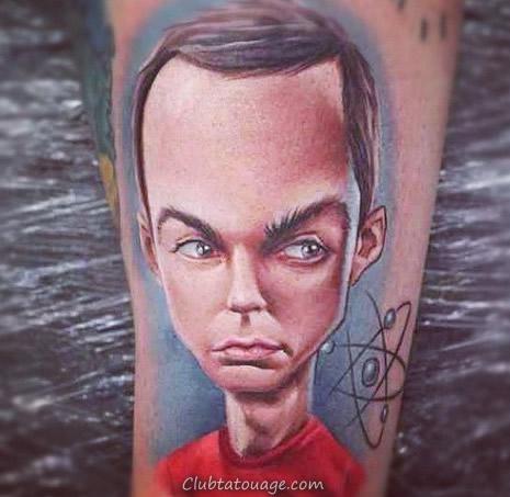 Sheldon tatouer l'étoile de la grande Bang Theory