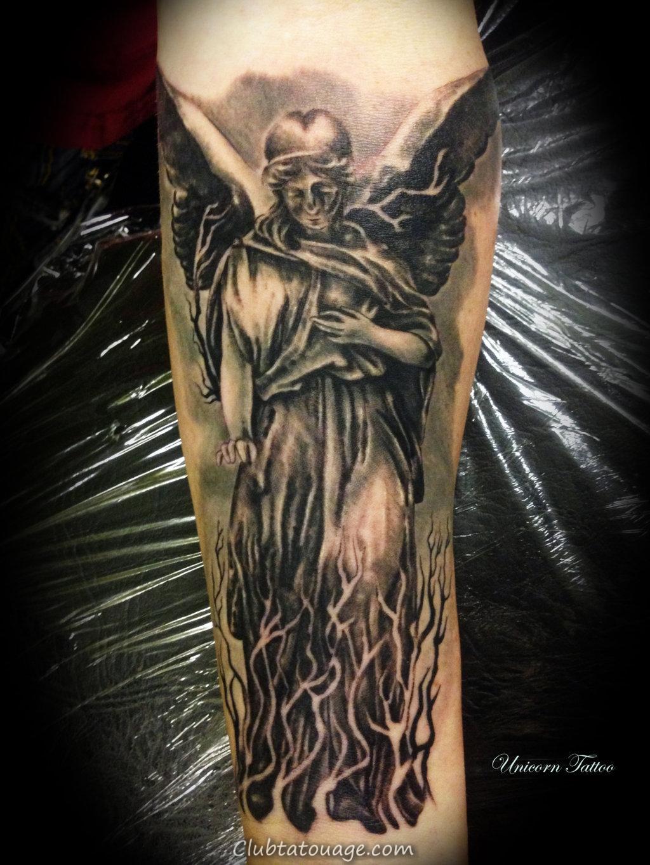 Ange Gardien Protecteur Tatouage tatouage d ange et demon | tatouage d'ange