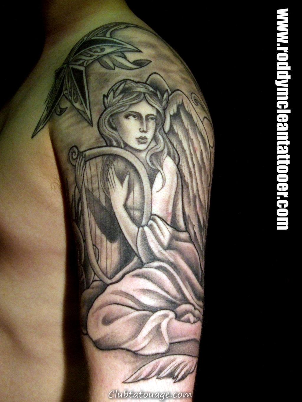 Ange Gardien Protecteur Tatouage tattoos 75 anges gardiens et leur sens » club tatouage