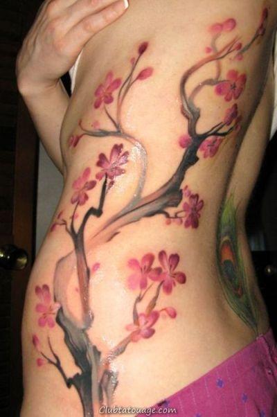 Tatouages dans les côtes pour les femmes sens et des idées