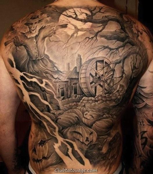 tatouage spectaculaire 3D tatouage couvre le modèle de l'épée