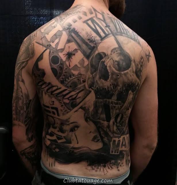tatouage spectaculaire 3D tatouage couvre modèle de l'épée