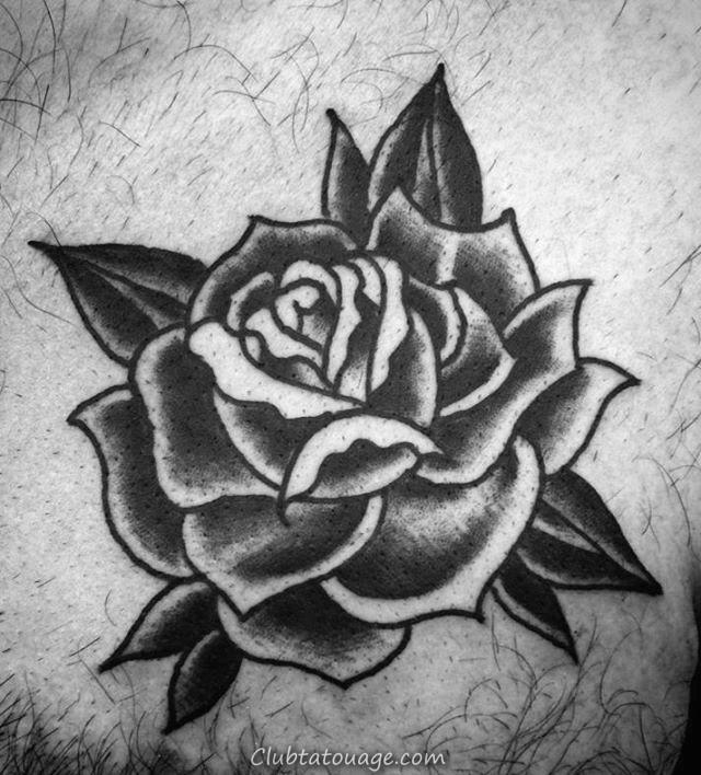 Poignets Black Rose Tattoo sur Gentleman