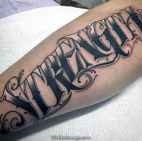 Votre douleur Aujourd'hui est votre force demain Homme poignet Tatouages