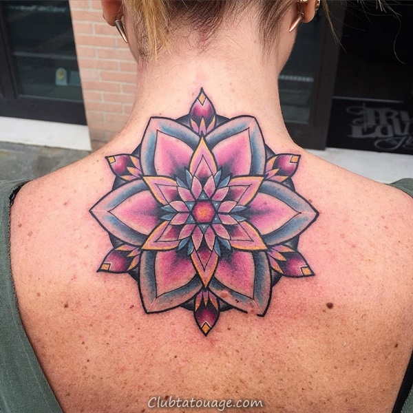 30 magnifiques idées Mandala de tatouage 2