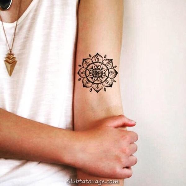 30 magnifiques idées Mandala de tatouage 3