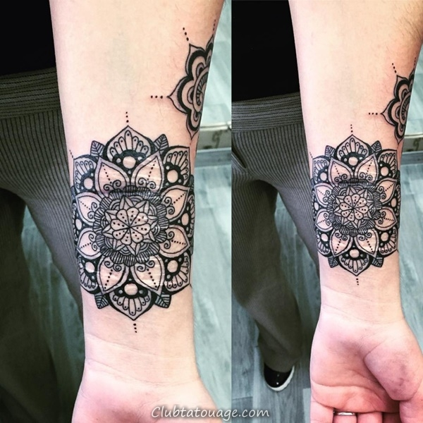 30 merveilleux Mandala Tattoo Ideas 32