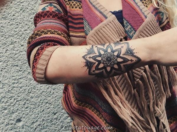 30 magnifiques idées Mandala de tatouage 7