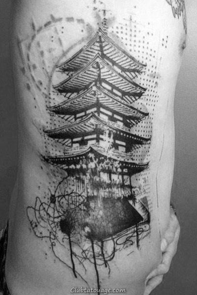Amazing Mens Building réalistes Tatouages manches
