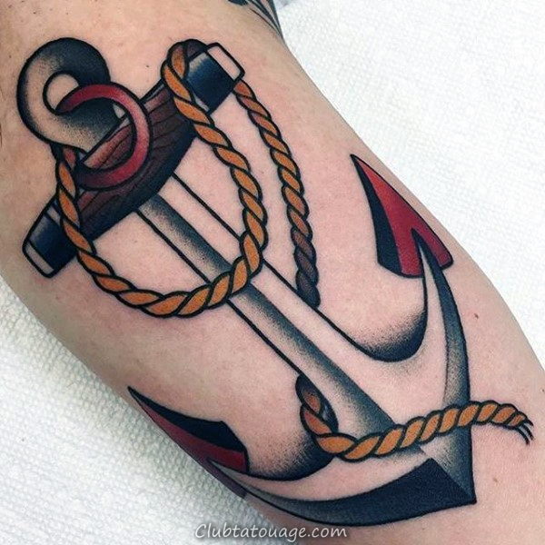 incroyable traditionnelles Anchor Mens Arm Tattoo Ideas