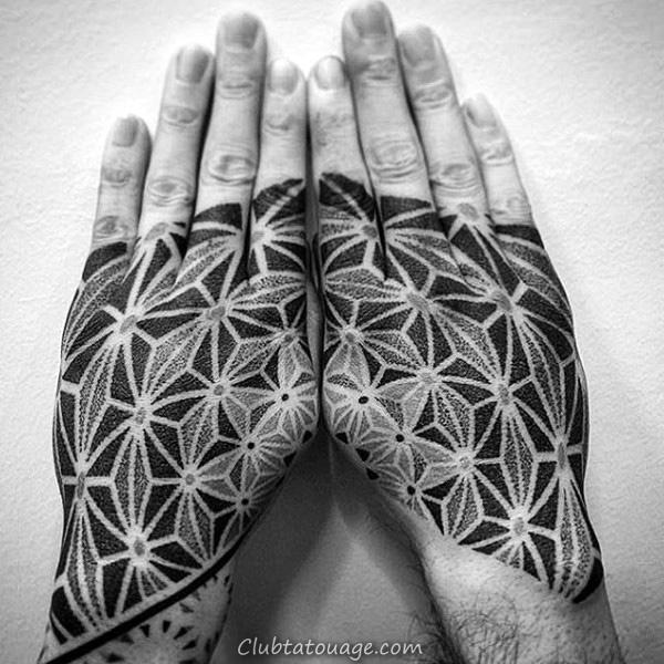 Motif Noir Gris Tattoo Homme mains 600