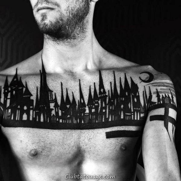 90 Bâtiment Tatouages pour les hommes - Architecture d'encre Idées
