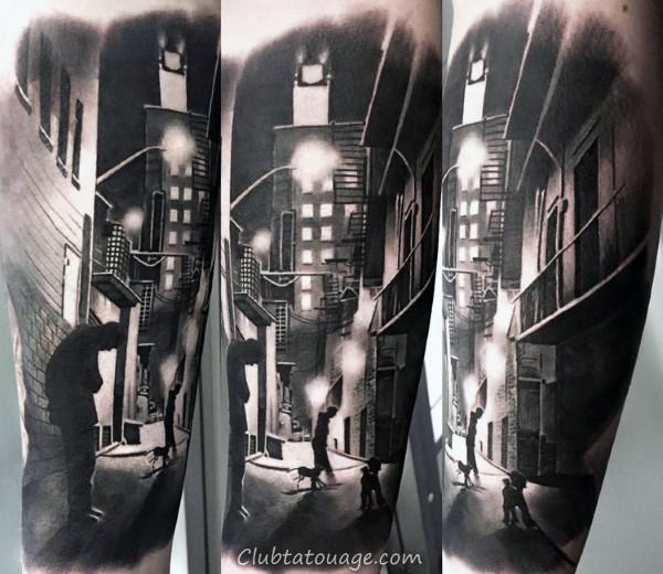 Murs Construction Place Brique bâtiment Hommes Forearm petits tatouages