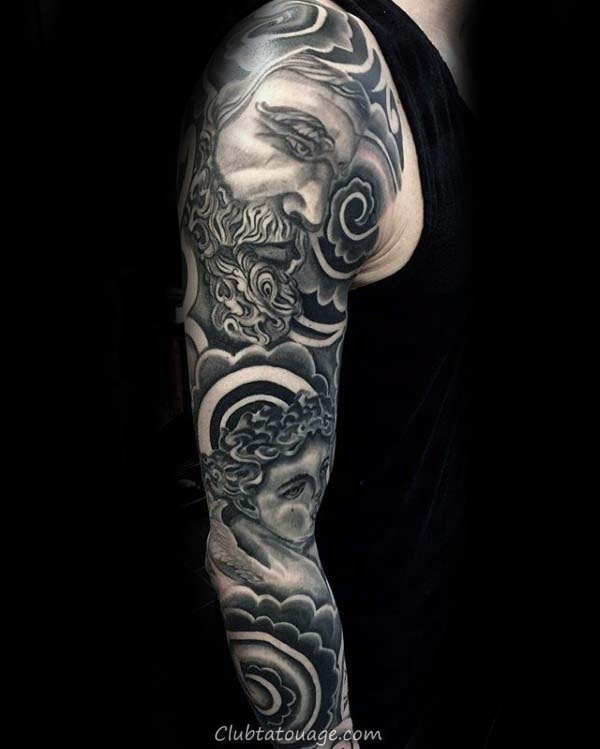 Nuages ​​Nice Guys complètes Arm Tattoos