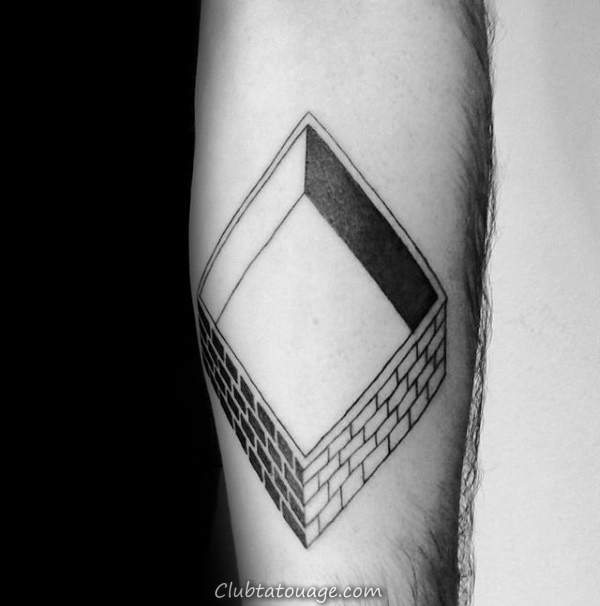 cool Mens 3d Shaded construction Tatouages ​​manches
