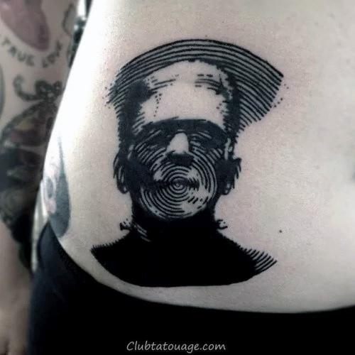 Gentleman Avec Tattoo Cercle Fingerprint Inner Forearm