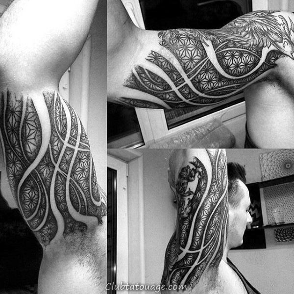Henna Patterned Tattoo Homme Avant-bras