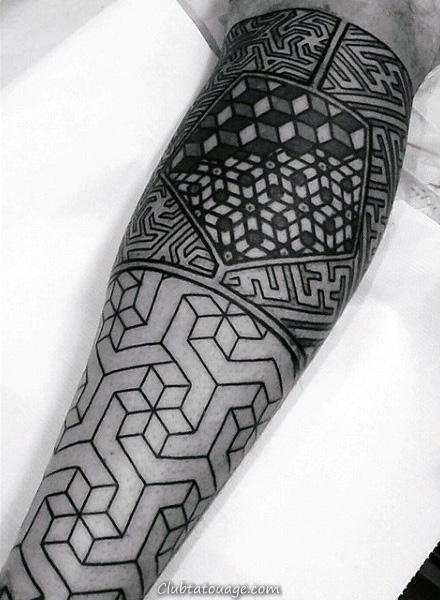 Avant-bras Guys Noir Motif Tattoo