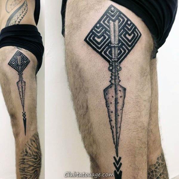 Inner Forearm Homme Spear Spartan Tatouages