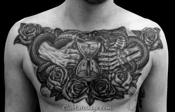75 Squelette de la main Tattoo Designs For Men - Idées Manly encre