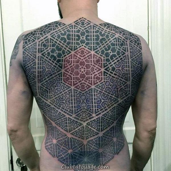 Motif Kaléidoscope Tattoo Hommes manches pleine