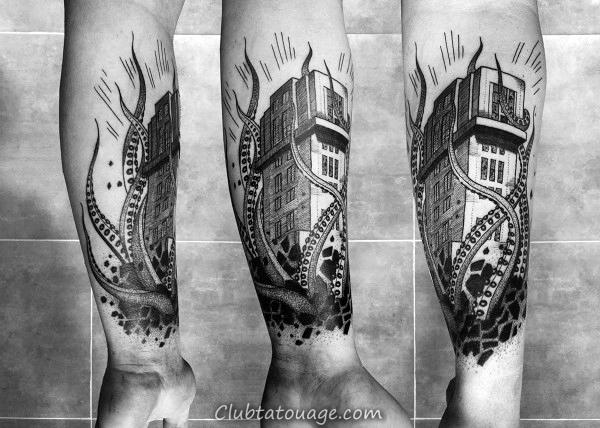 London Clock Tower Building Mens Tatouages Arm