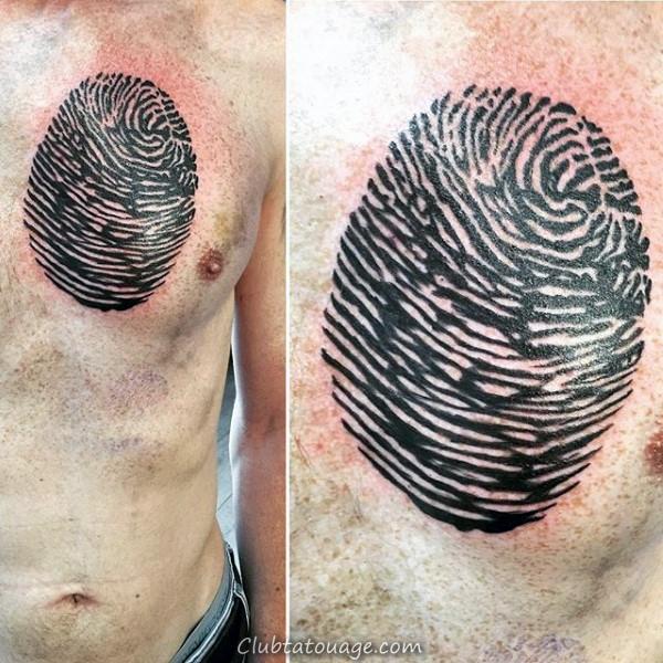 Manlu Guys Résumé Fingerprint Arm Tattoos