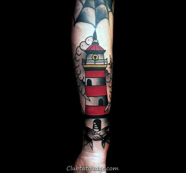Lower Forearm Male Tattoo Design Ideas Phare traditionnels
