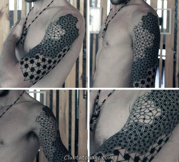 width Arms Homme Motif Tattoo