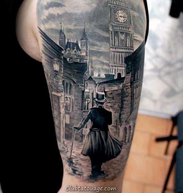 Hand Hommes Tattoos Avec Old design School