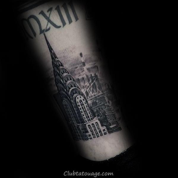 width Hommes Castle Building Full Back Tattoo Ideas