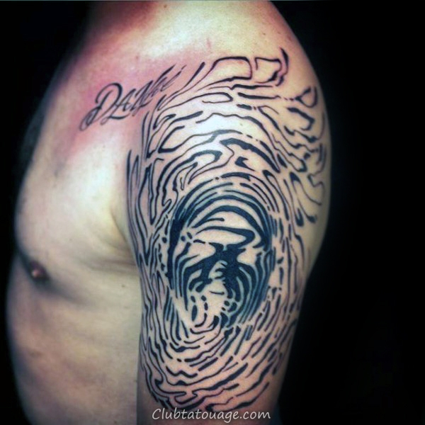 Manly Fingerprint Mens Chest Tattoo Designs