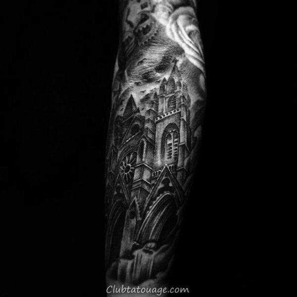Mens Building Tatouages Arm