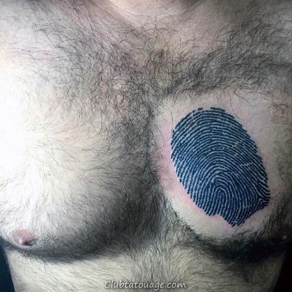 Masculine Guitar Pick-Fingerprint Tattoo Pied Hommes Avec 3d Design