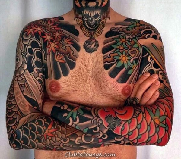 Masculine Nice Guys Tradtional japonaise complète Tattoo Designs manches