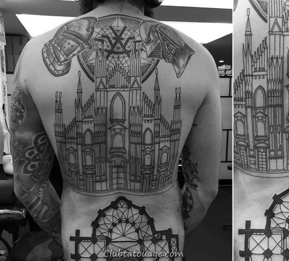Collier Minimaliste Guys Skyline Building Os Tattoo Idées