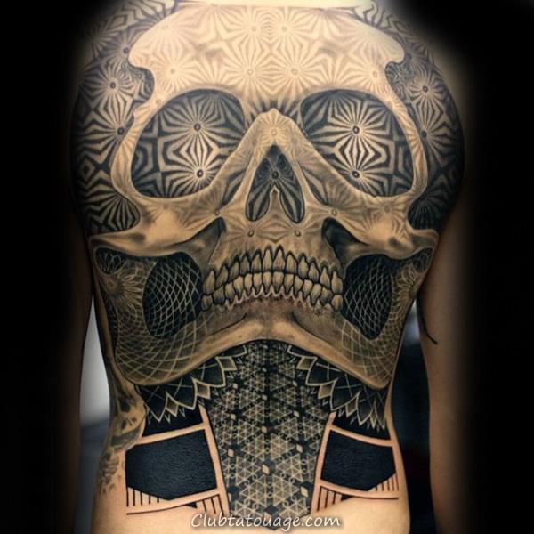 width Mens pleine manches cuboïde Motif Tattoo