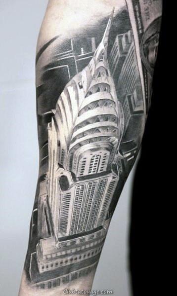 Building Mens Arm Tatouages Crâne
