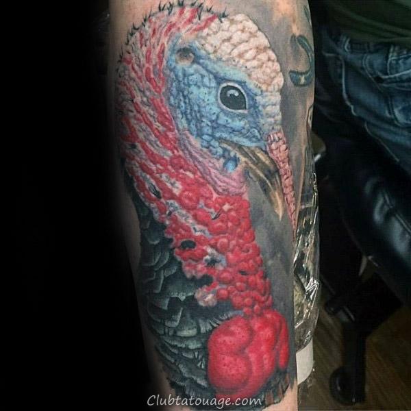 rôti Turquie oiseau Hommes Petit Arm Tattoos