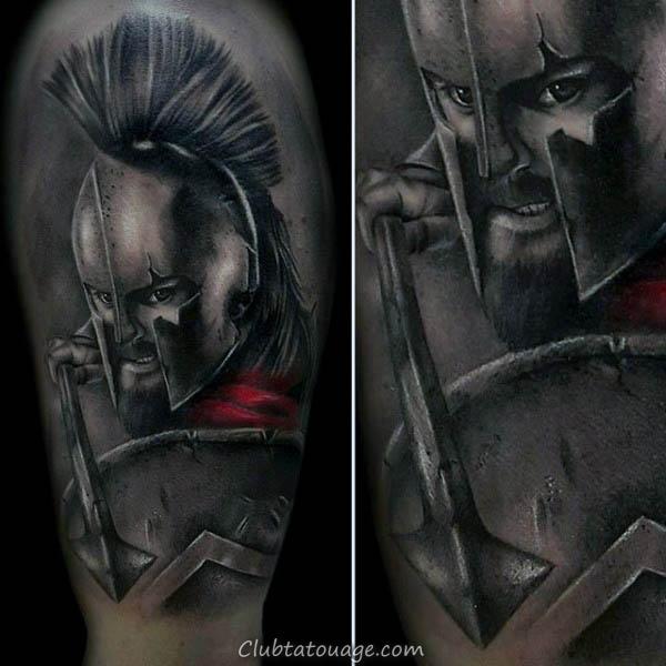 Skull Avec Spears Hommes Outer Forearm Tattoos