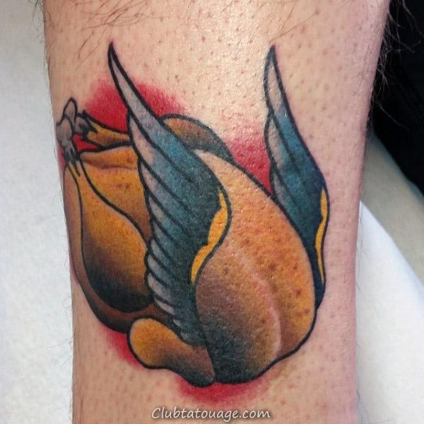 Top 40 Meilleurs Turquie Tattoos For Men - Jeu d'oiseaux Idées
