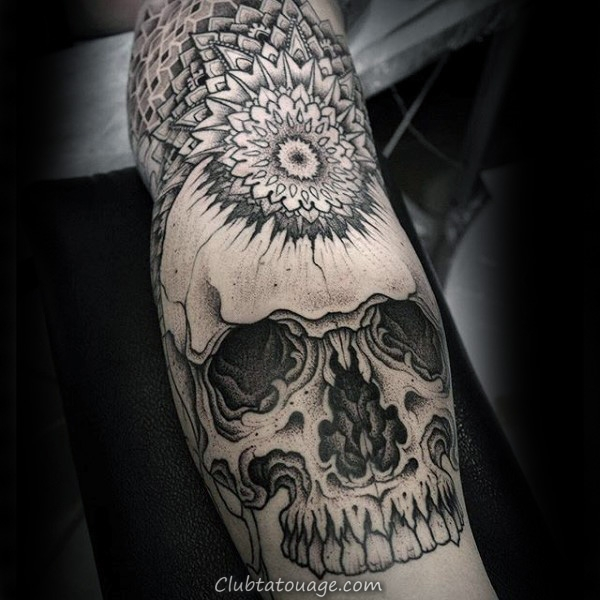 width Motif Swirly Tattoo Male Arms