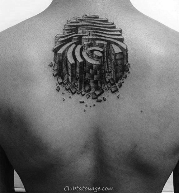 minuscule Petit Homme Fingerprint Tattoo Designs