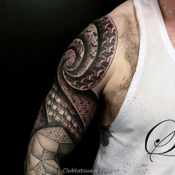 100 Motif Tatouages pour les hommes - Symmetrical Design Ideas