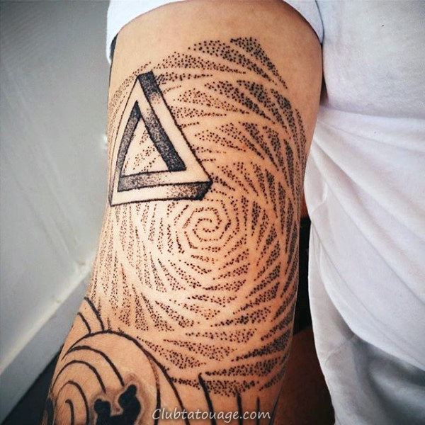 Waves Motif Tattoo Homme plein manches