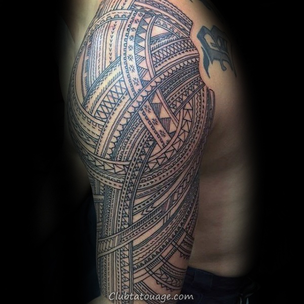 Black Lines encre Guys samoans manches tribal Tattoo design Ideas