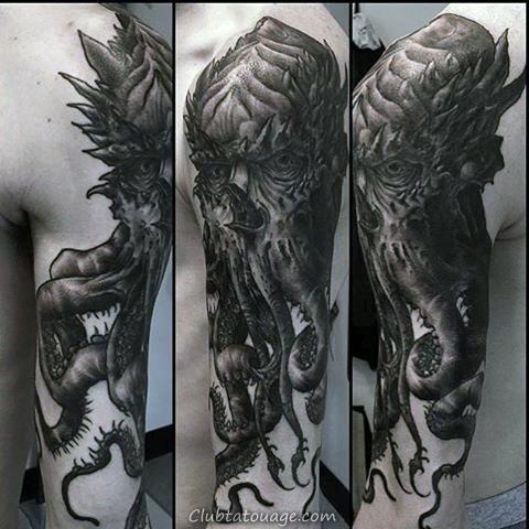 70 Cthulhu Designs de tatouage pour hommes - Idées Masculine encre