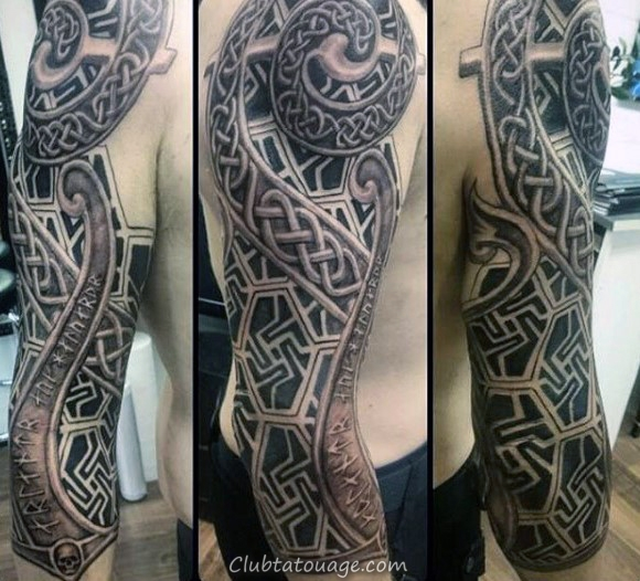 width Refroidir masculine Homme Celtic plein manches Tattoo Ideas
