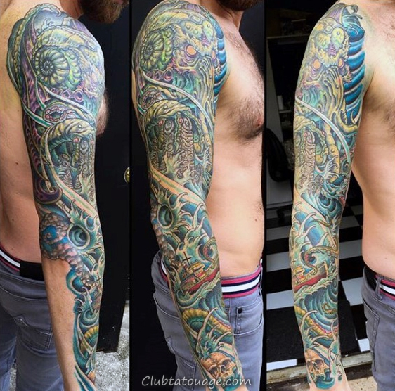 Guys Cthulhu Abstract Tattoo Designs sur le bras